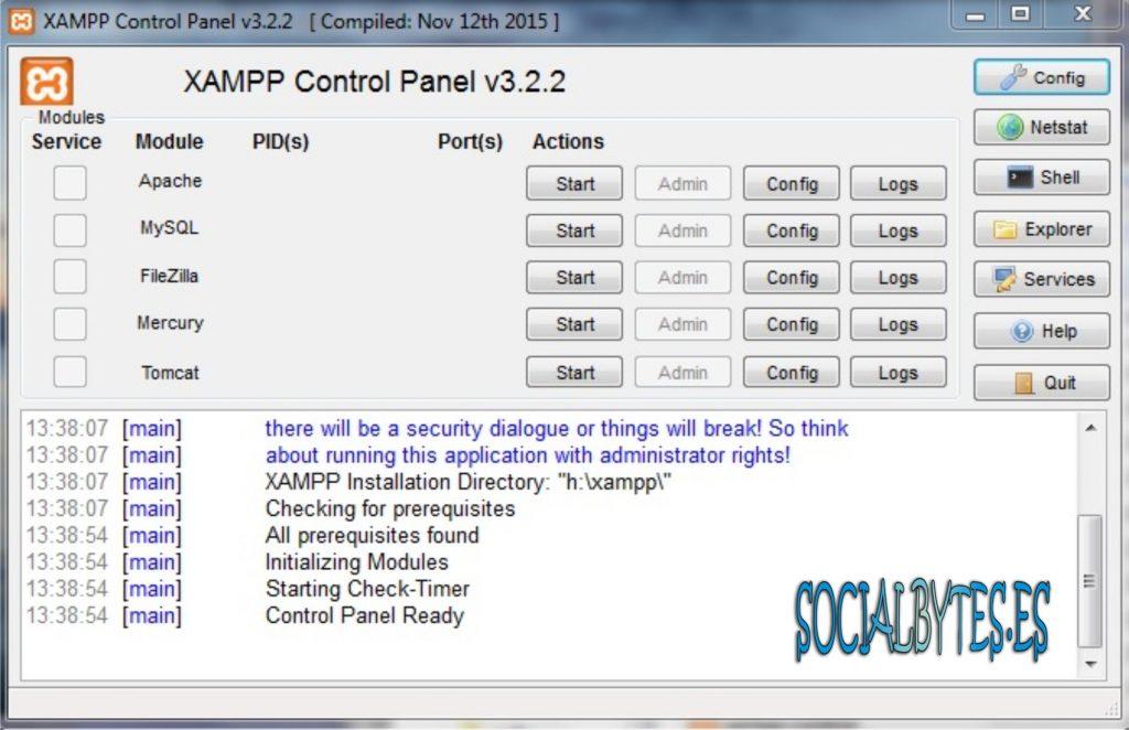 Xampp un servidor Apache en un USB